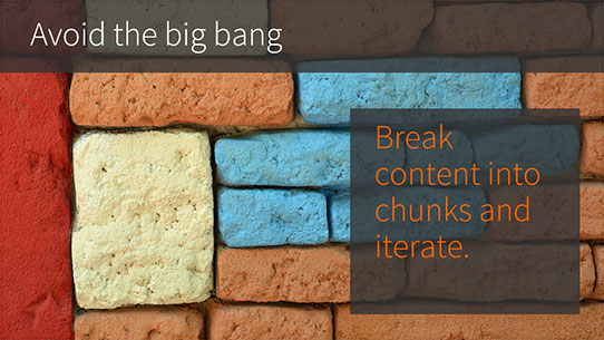 CMS web development - avoid the big bang