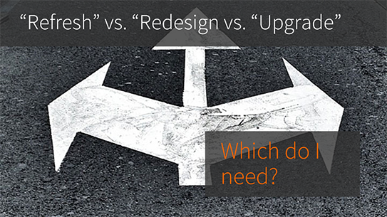 Refresh vs Redesign vs. Upgrade