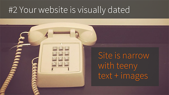 Your enterprise CMS website is visually dated
