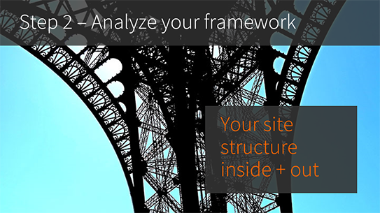 Analyze you enterorise CMS website structure
