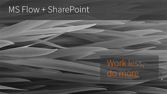 MS Flow and SharePoint