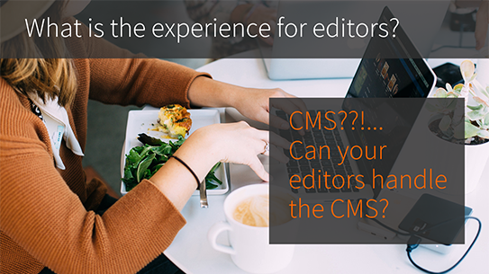 CMS platform decisions include working with your editors