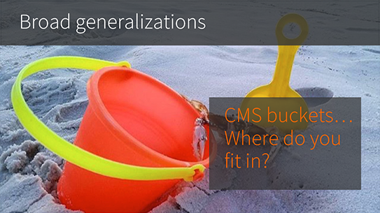 What CMS bucket do you fall into