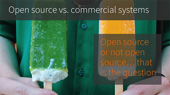 Picking a CMS platform starts with a decision about open source vs. commercial
