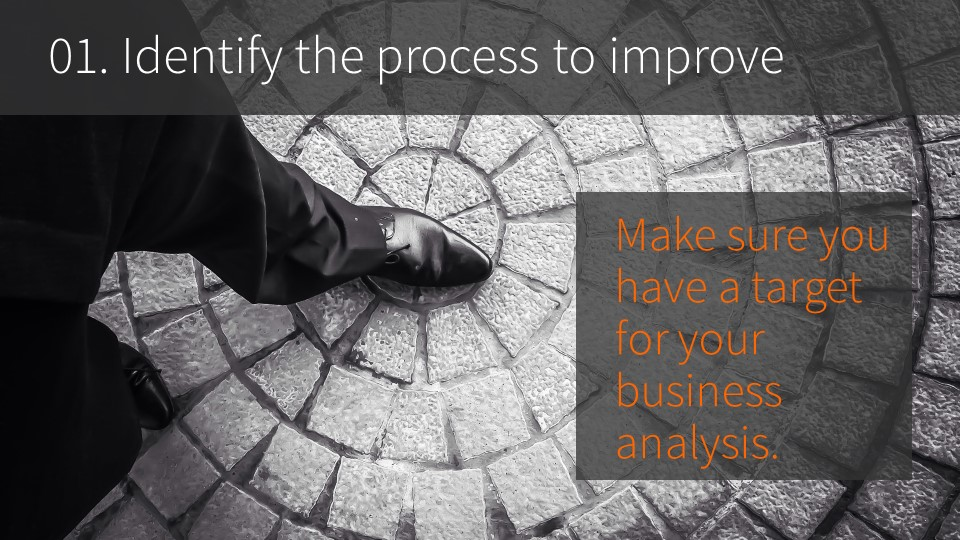 01. Identify the process to improve