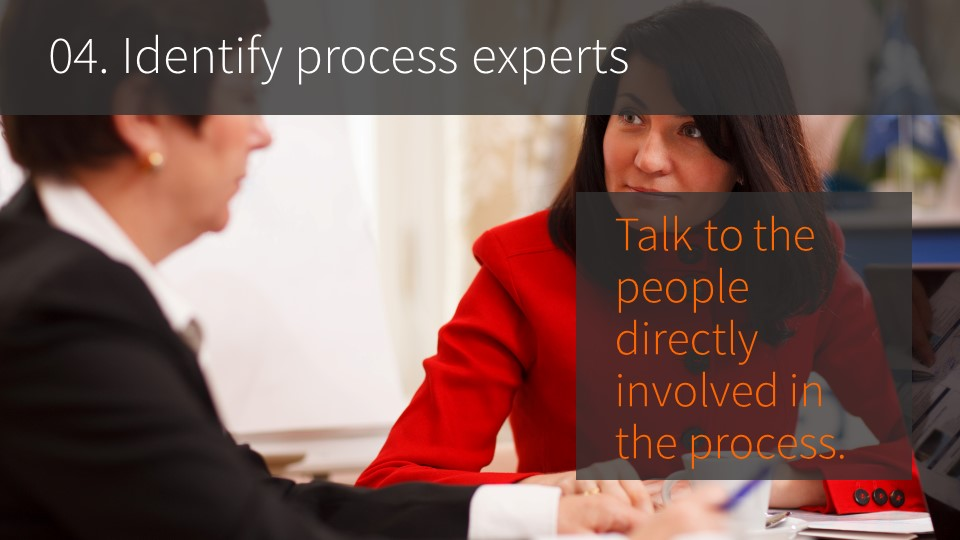 04. Identify process experts